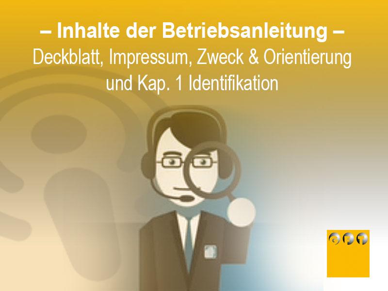 Betriebsanleitung Deckblatt Impressum