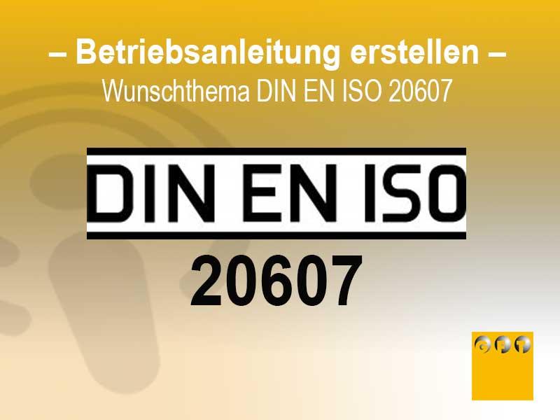 Betriebsanleitung Erstellen Mit Der Norm DIN EN ISO 20607
