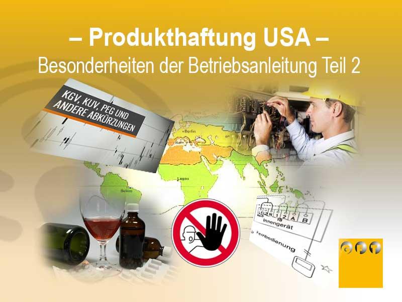 Produkthaftung USA - Besonderheiten Der Betriebsanleitung