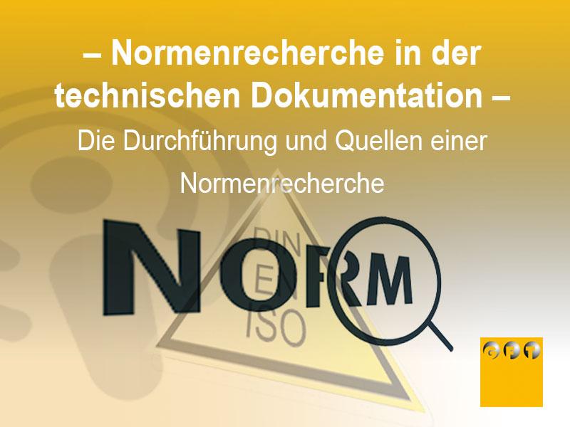 NORM #003 Die Durchführung Und Quellen Einer Normenrecherche
