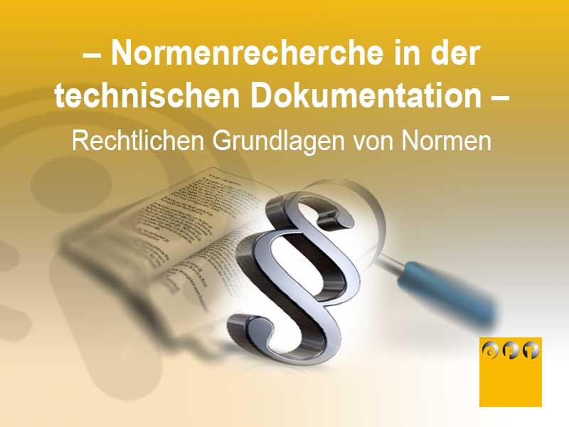 NORM #001 Grundlagen Für Die Normenrecherche