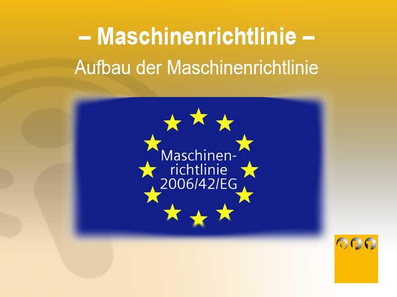 Aufbau Der Maschinenrichtlinie