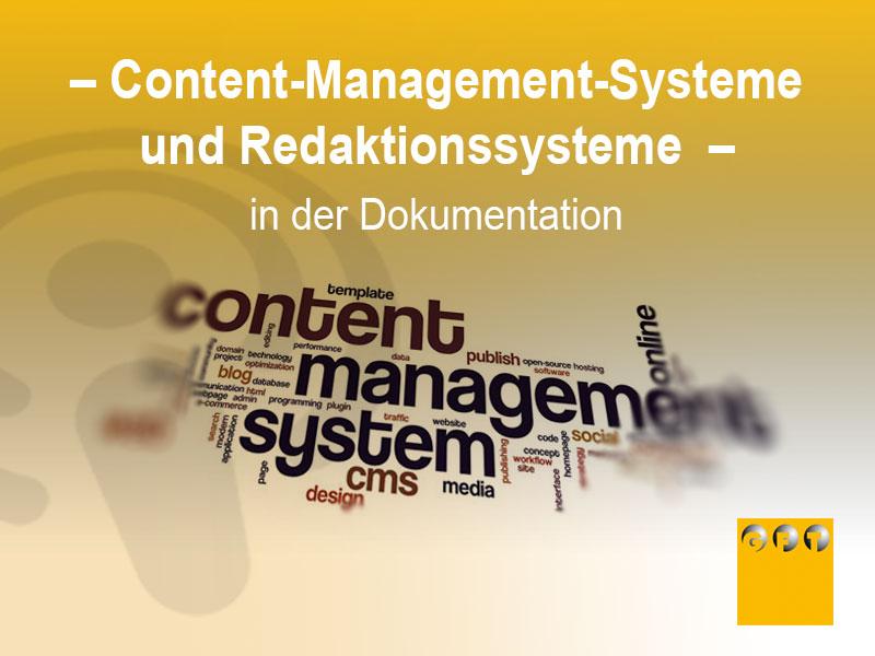 Content-Management-Systeme Und Redaktionssysteme In Der Dokumentation