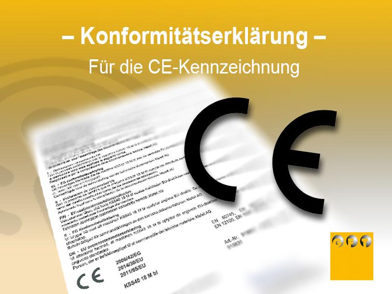 Konformitätserklärung Für Die CE-Kennzeichnung