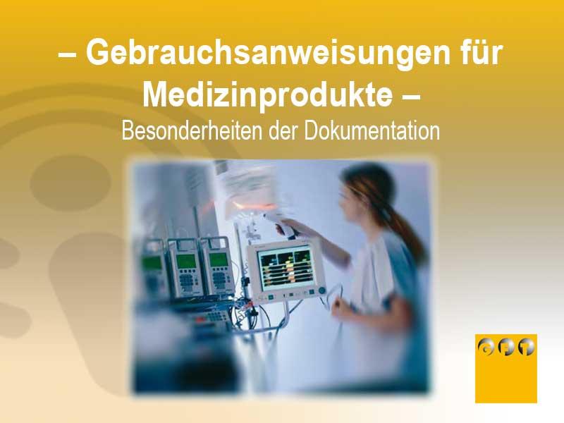 MED#001 Gebrauchsanweisungen Medizinprodukte – Besonderheiten Der Dokumentation