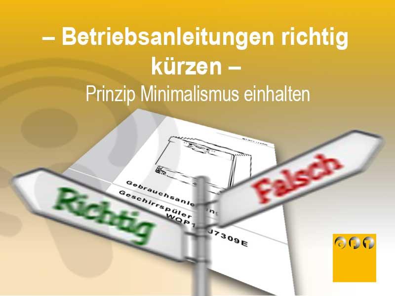 BA#016 Betriebsanleitungen Richtig Kürzen – Minimalismus Prinzip Einhalten