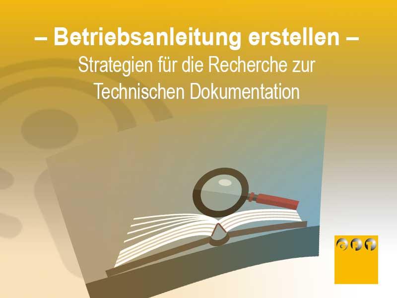 Strategien Zur Recherche Einer Technischen Dokumentation