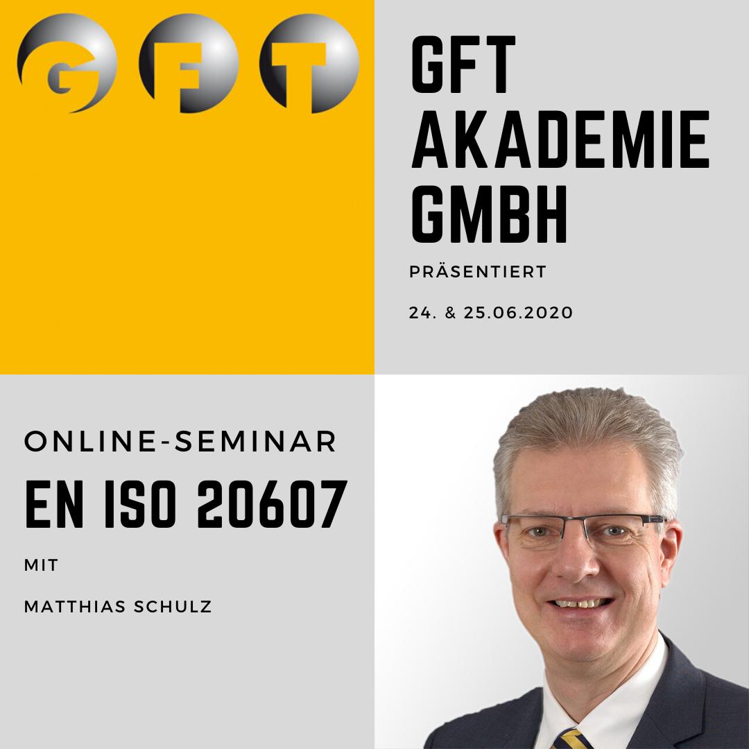 Online-Seminar EN ISO 20607 Mit Matthias Schulz