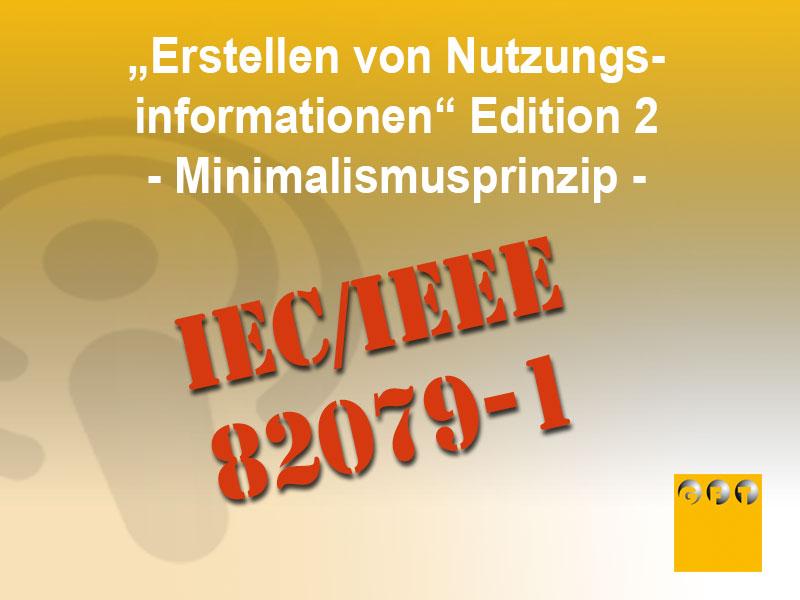 """NI #008 IEC/IEEE 82079-1 """"Erstellen Von Nutzungsinformationen"""" Edition 2"""