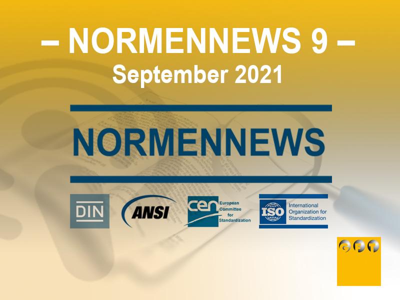 NN #009 News Zu Normen Und Richtlinien – September 2021